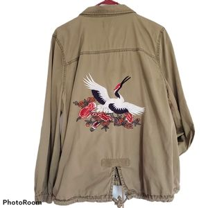 Sun & Shadow Embroidered Military Jacket